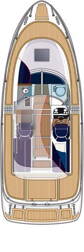 Схема катера Aquador 25 CE