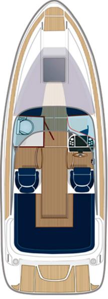 Схема катера Aquador Boats Daycruisers 23 DC