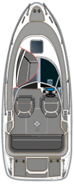 Схема катера Aquador Boats Walkaround 22 WA