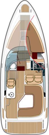 Схема катера Aquador 27 DC