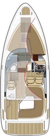 Схема катера Aquador 27 HT