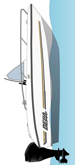 Схема катера Bella 485 R