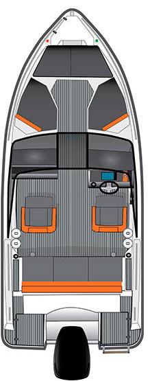 Схема катера Bella 500 BR