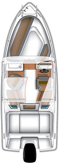 Схема катера Bella 580 C