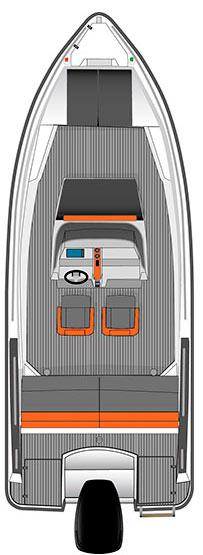 Схема катера Bella 600 R
