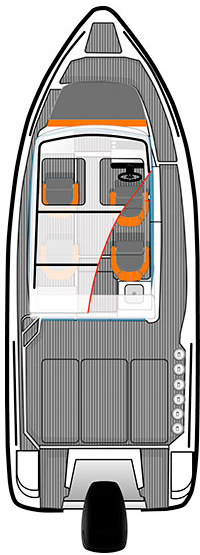 Схема катера Катер Bella 700 Raid