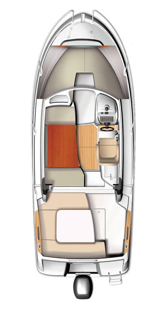 Схема катера Beneteau Antares 6.80