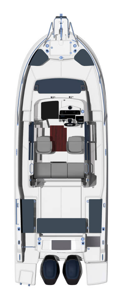 Схема катера Beneteau Barracuda 8
