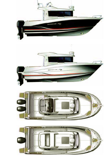 Схема катера Beneteau Barracuda 9