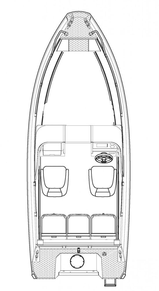 Схема катера Buster X