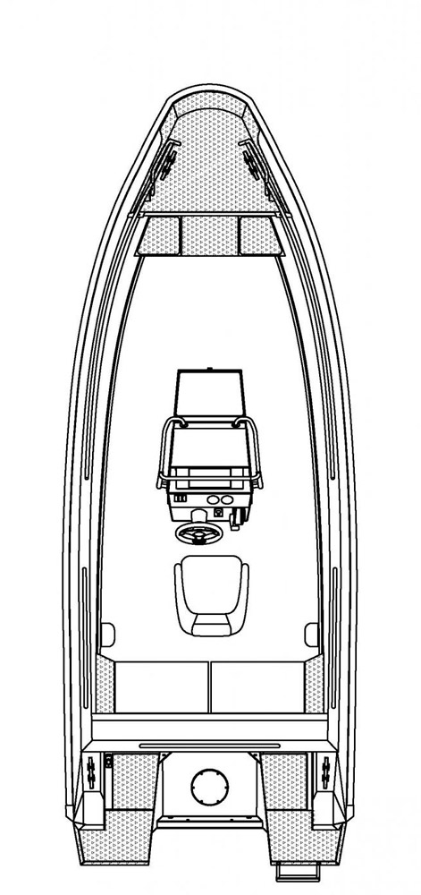 Схема катера Buster XL Pro