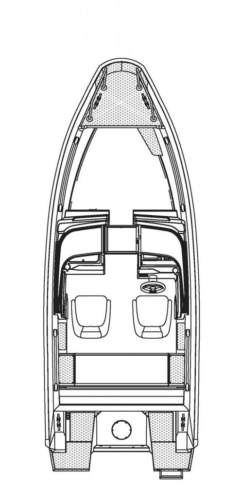 Схема катера Buster XL