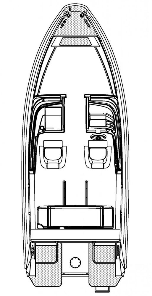 Схема катера Buster XXL