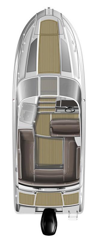 Схема катера Cap Camarat 7.5 DC