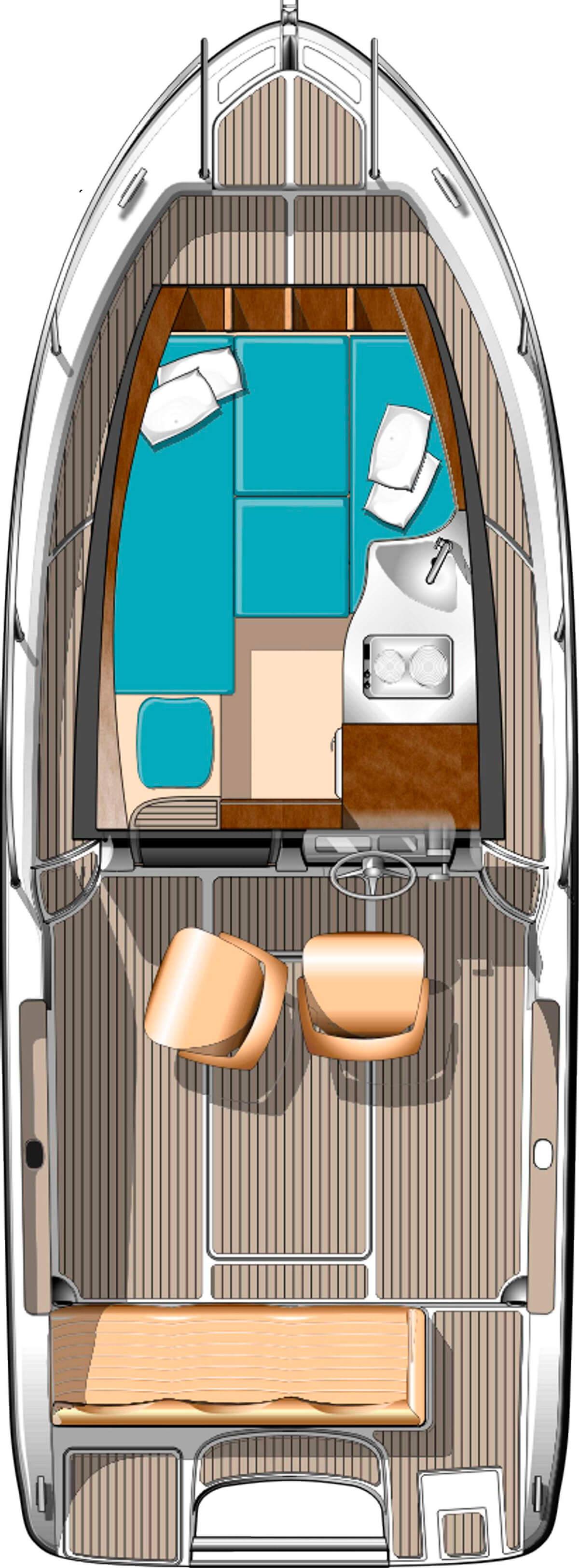 Схема катера Elan Fishingline 650 Cabin