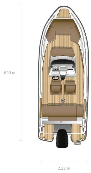 Схема катера Flipper 600 SC