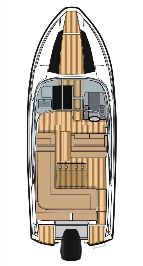 Схема катера Flipper 670 DC
