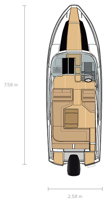 Схема катера Flipper 760 DC