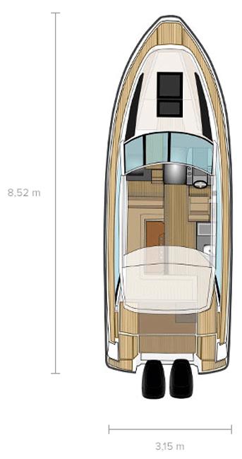 Cхема катера Flipper 880 ST