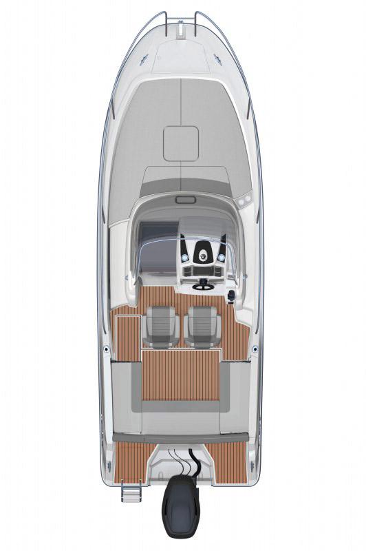 Схема катера Jeanneau 7.5 WA Series 2