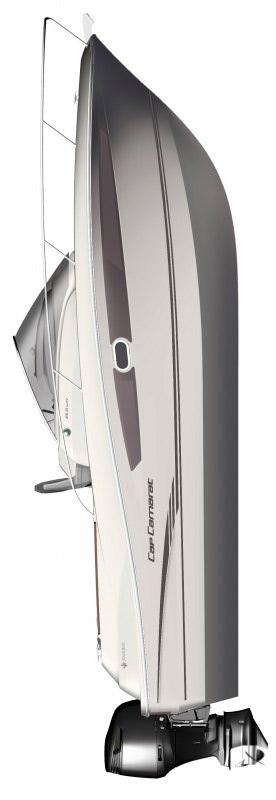 Схема катера Jeanneau Cap Camarat 8.5 WA