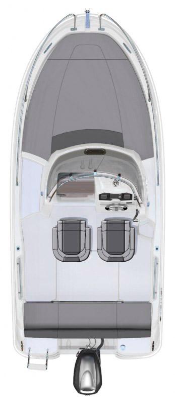 Схема катера Jeanneau Cap Camarat 5.5 WA