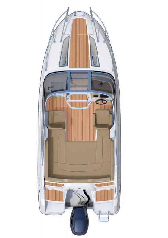 Схема катера Jeanneau Cap Camarat 6.5 DC