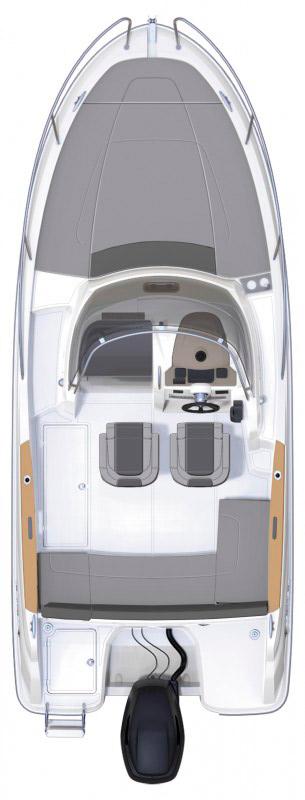Схема катера Jeanneau Cap Camarat 6.5 WA