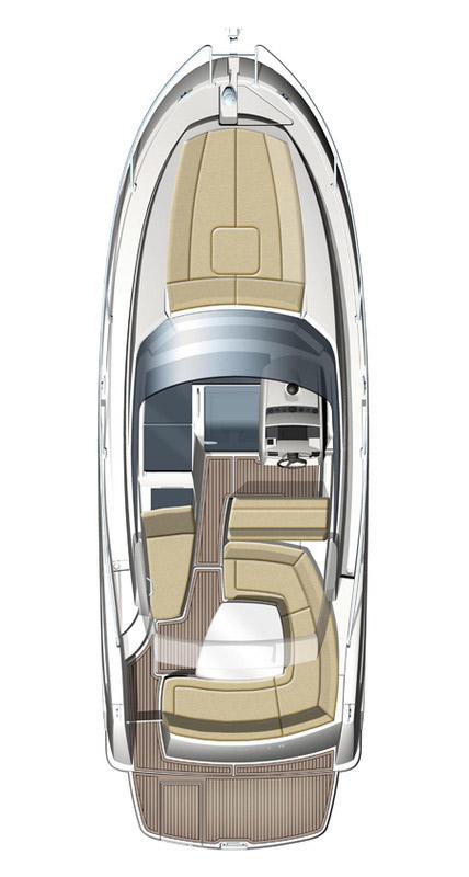 Схема катера Jeanneau Leader 8