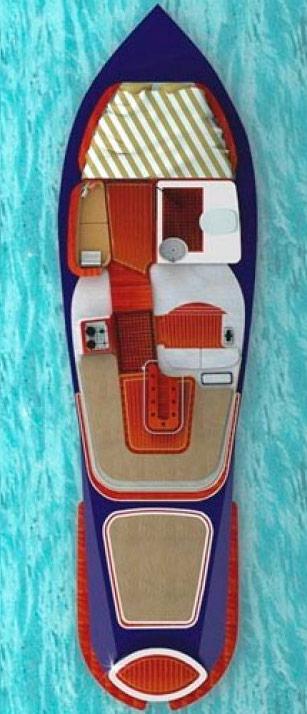 Схема катера  Kral 700 Openbow