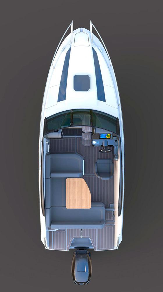 Схема катера Parker 690 Day Cruiser