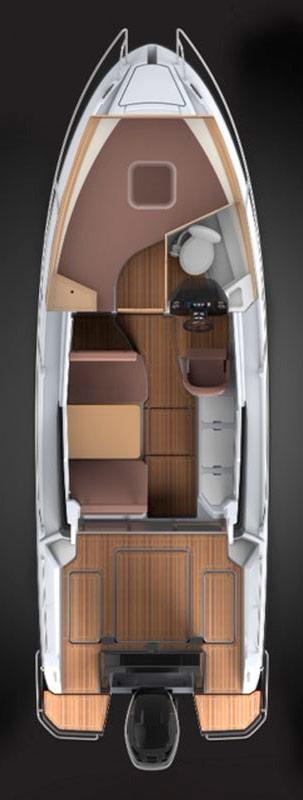 Схема катера Parker 750 Cabin Cruiser
