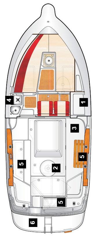 Схема катера Quicksilver 230 Arvor