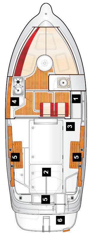 Схема катера Quicksilver 250 Arvor