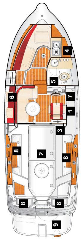 Схема катера Quicksilver 280 Arvor
