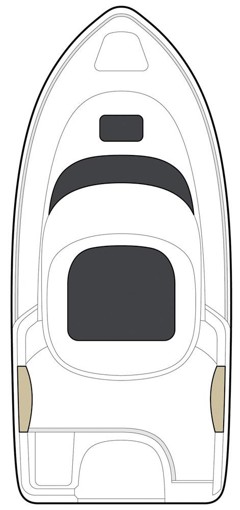 Схема катера Quicksilver 530 Pilothouse