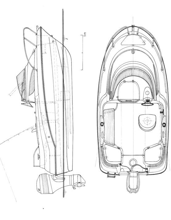 Схема катера Quicksilver Activ 430 Cabin