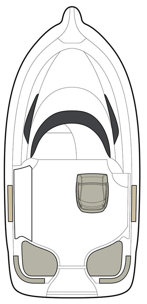 Схема катера Quicksilver Activ 510 Cabin