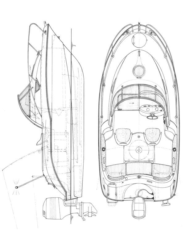 Схема катера Quicksilver Activ 540 Cabin