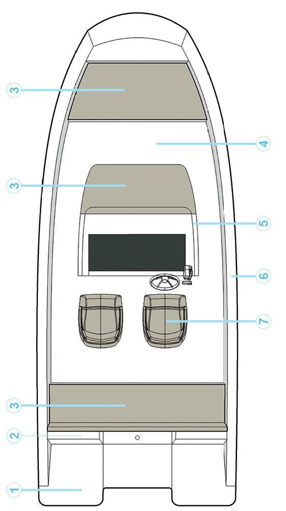 Схема катера Quicksilver Activ 605 Open
