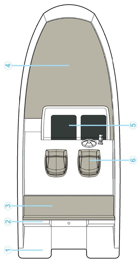 Схема катера Quicksilver Activ 605 Sundeck