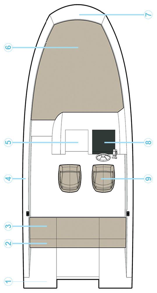Схема катера Quicksilver Activ 675 Sundeck