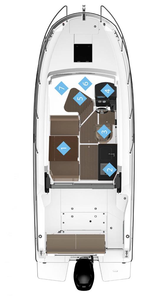 Схема катера Quicksilver Activ 755 Weekend