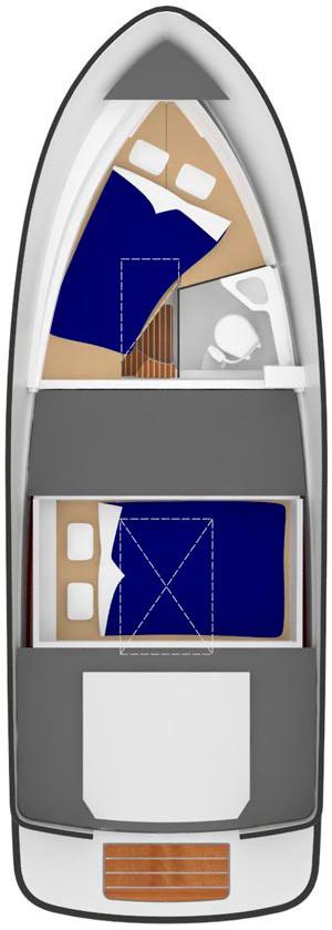 Схема катера Sargo 25