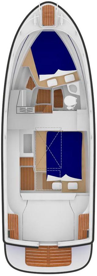 Схема катера Sargo 28