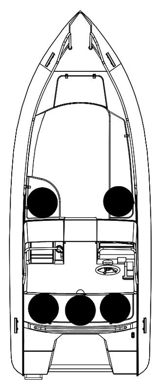 Схема катера Silver Fox DC 485