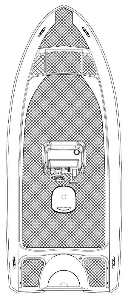 Схема катера Silver Hawk CC 540