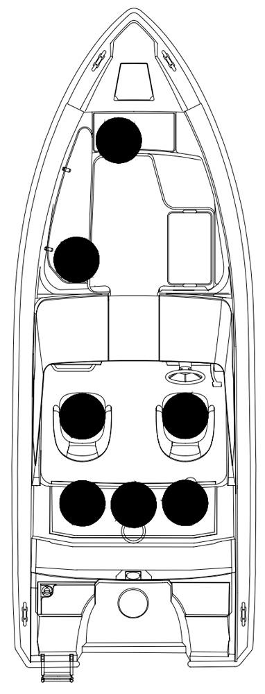 Схема катера Silver Shark BR 580
