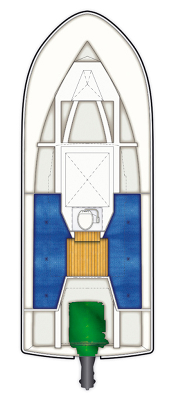 Схема катера Targa 23.1
