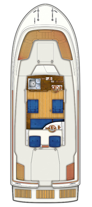 Схема катера Targa 25.1